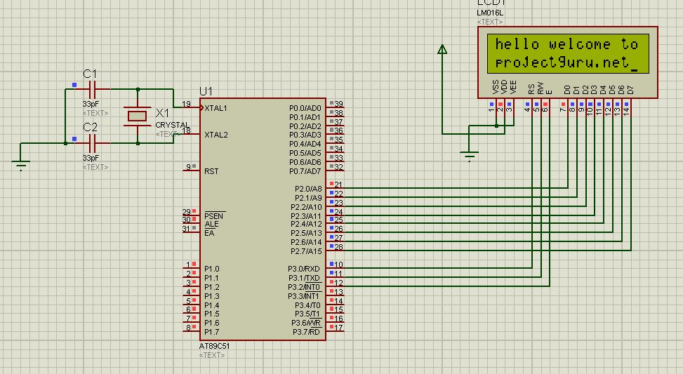 lcd interfacing with 8051   MechaTerrain