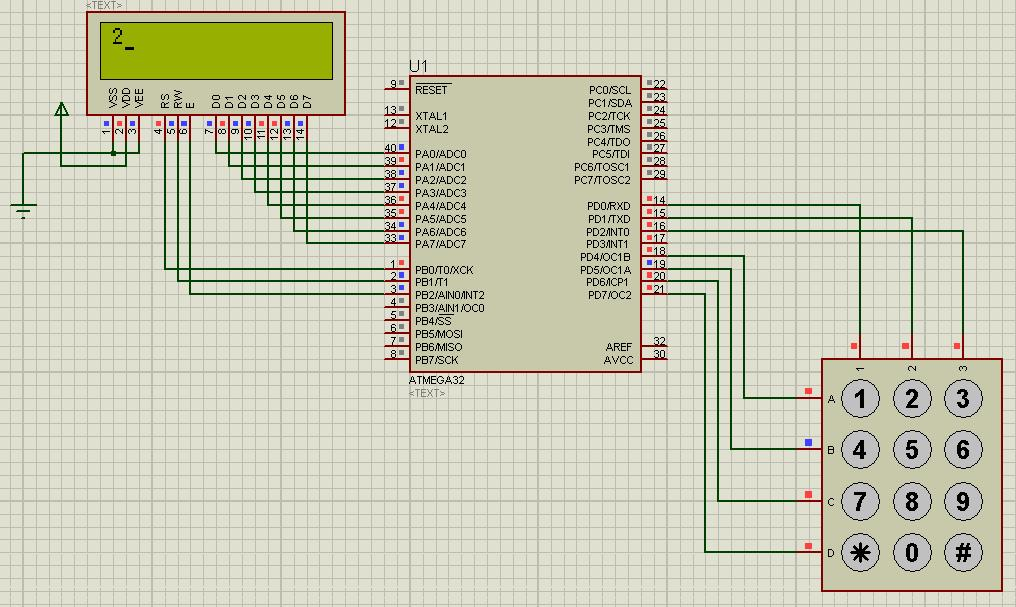 Lcd Interface With Atmega32 Avr Microcontoller For Beginners