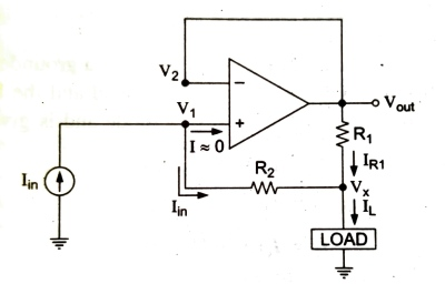 non inverting current amplifier