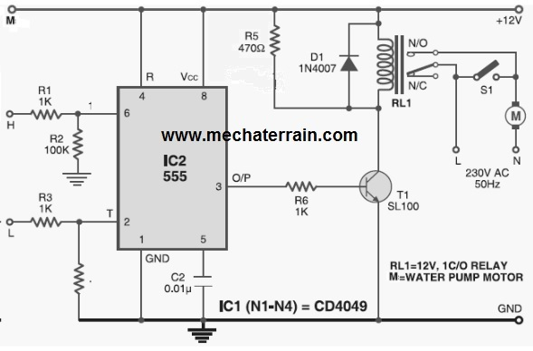 555 water level controller circuit  water level alarm circuit using 555 timer  2019